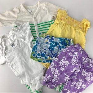 Baby Girls' Lot 6 Pieces Clothing - 3-6 Months